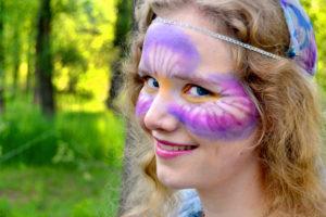 beautiful creative make up art face