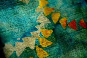 Descriptive blue fabric