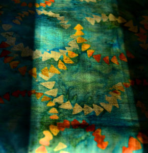 Beautiful blue fabric - easily described colors