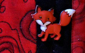 Fairytale Writing Button Fox